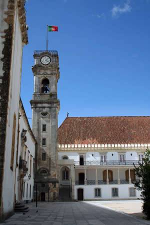 Detail of the coimbra university tower2 Stock Photo