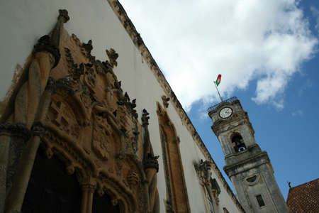 Detail of coimbra university tower1 Stock Photo