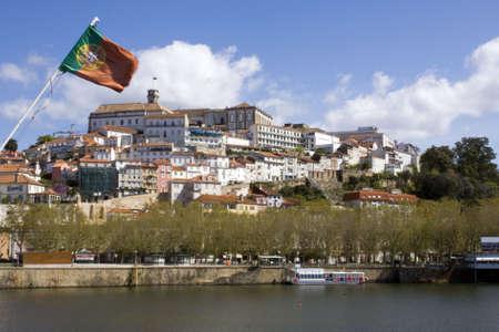 Panoramique de la ville de Coimbra et son universit�.