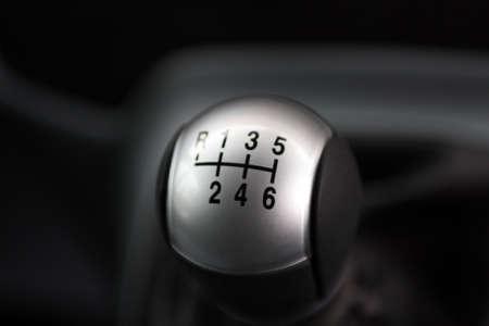 Detail of a six shift drive stick.