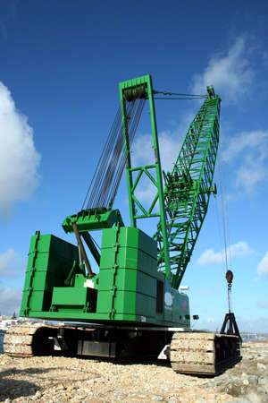 A crane working on the sea.