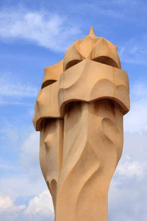 A detail of Gaudi La Pedrera in Barcelona Stock Photo