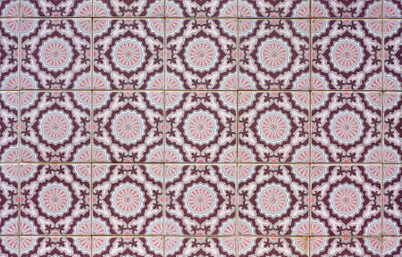 Old tiled Background, portuguese azulejos.