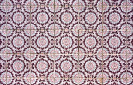 Vieux en mosa�que de fond, azulejos portugais.