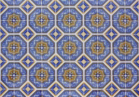 Old tiled Background - portuguese azulejos