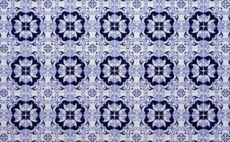 Old tiled Background - portuguese ajulejos photo