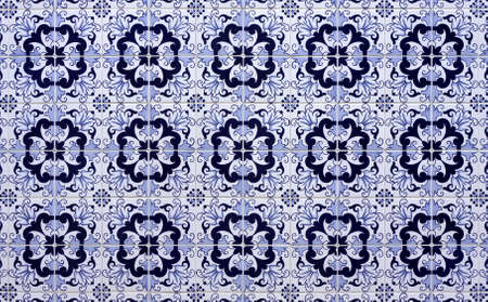 Old tiled Background - portuguese ajulejos photo
