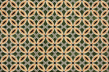 Old tiled Background - portuguese azulejos photo