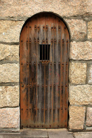 A detail of a castle door in spain Stock Photo