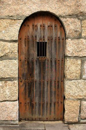 A detail of a castle door in spain Banque d'images
