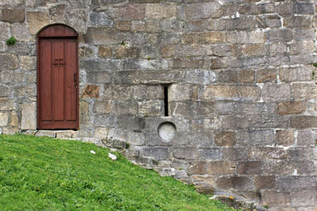 A detail of a castle door Stock Photo