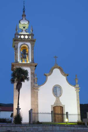 A church at sunset
