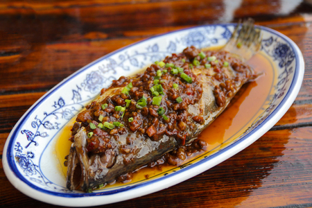 stinking: Anhui stinking salmon cusine