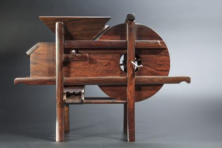farm implements: Threshing machine