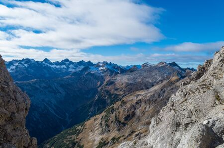 allgau: Beautiful overview over the summits of Allgau mountains, Germany