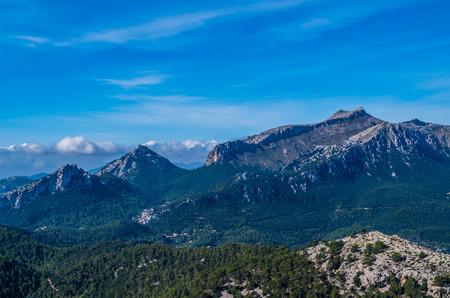 mallorca: Puig de Massanella in Tramuntana mountains, GR 221, Mallorca, Spain