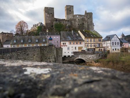 hessen: Runkel, Town and Castle, Region River Lahn, Hessen, Germany Stock Photo