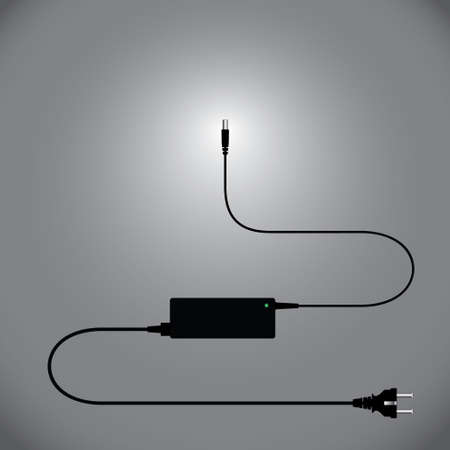 power supply: Laptop and power supply to the wire