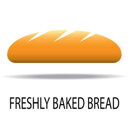 freshly baked: freshly baked bread. Illustration on white background Illustration