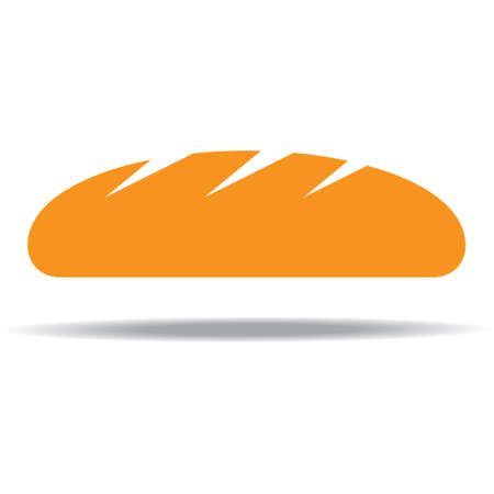 freshly: freshly baked bread. Illustration on white background Illustration