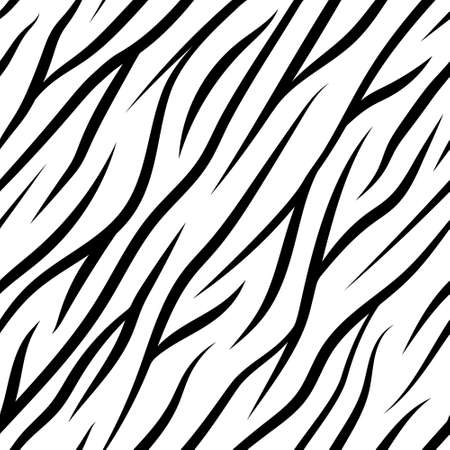 zebra stripes: Zebra Stripes Seamless Pattern vector texture black and white