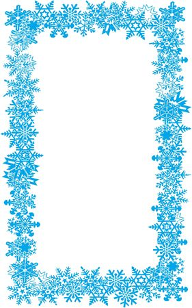 Snow flake border 01