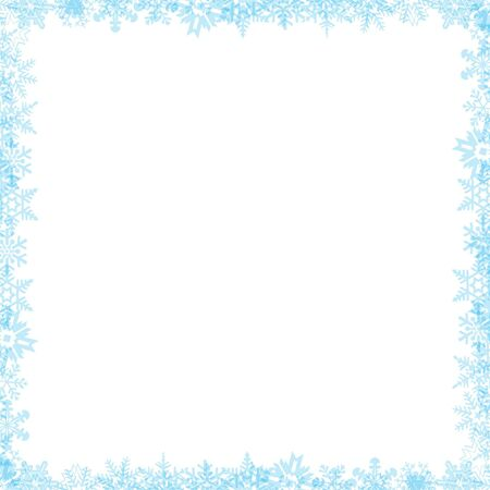 Snow flake border 04 Stock Photo