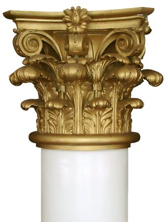 Isolated decorated column top