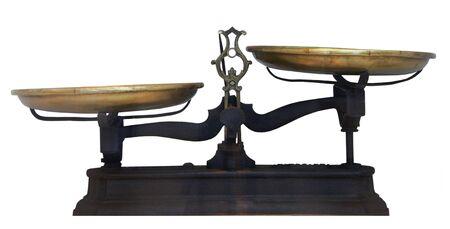 Antique table métallique échelles