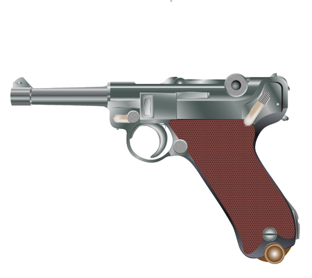 Vector image of vintage personal pistol of WW2 times Stock Vector - 4463942
