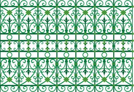 vector image of metal scoop  grating fence Reklamní fotografie - 4463941