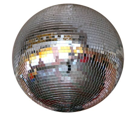 Isolated silver night club lighting  mirror-ball