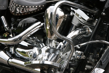 Motorcycle chrome engine design background