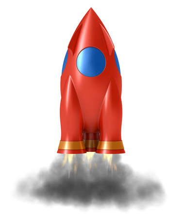 orbiting: Abstract rocket  Stock Photo