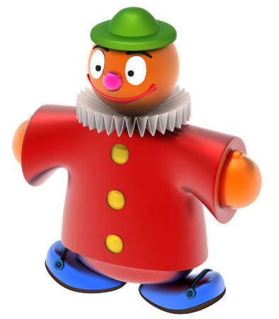 Abstract toy clown