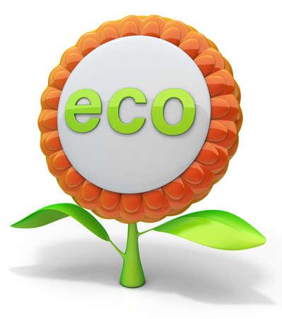 Flower eco icon