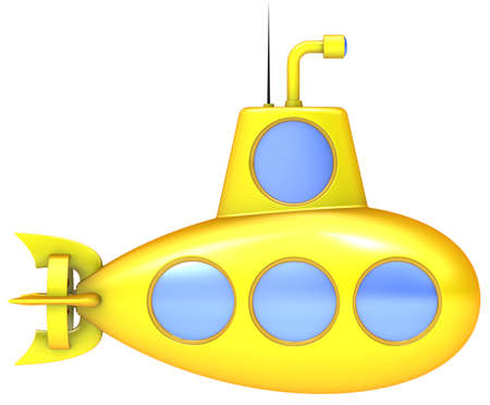 cartoon submarine: Abstract yellow submarine
