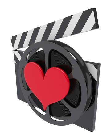 love movies: Favorite movie icon Stock Photo