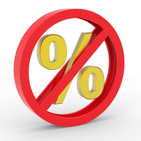 warning against a white background: No percent icon Stock Photo