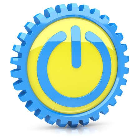 Poder icono Foto de archivo