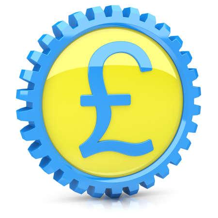 Pound icon  Stock Photo - 14259371