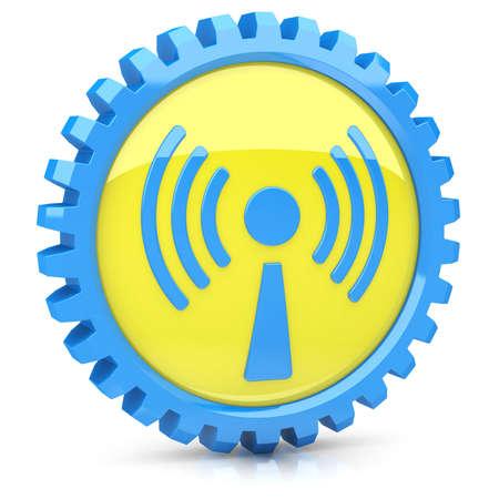 Wi-Fi icon Stock Photo - 14259396