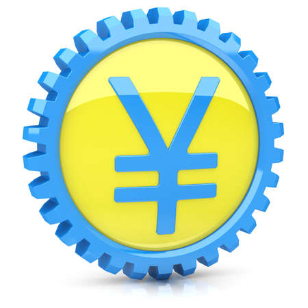 Yen icon Stock Photo