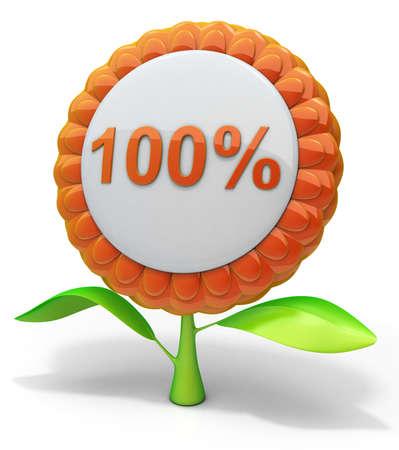 Flor de un 100% el icono Foto de archivo
