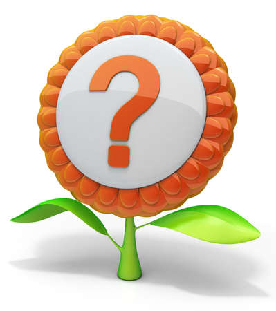 Flower question mark icon photo
