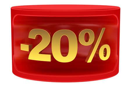 Sale sticker -20% photo