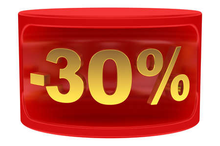 Sale sticker -30% photo