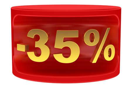 Sale sticker -35% Stock Photo - 14843625