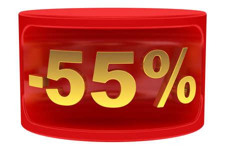 Sale sticker -55%
