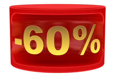 Sale sticker -60% photo